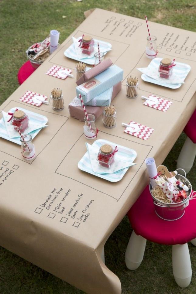 mesa niños pintada