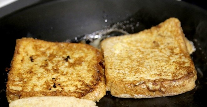tostadas en sarten