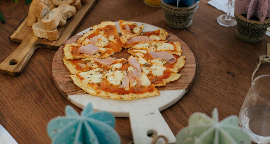 Pizza de Coliflor Coco y Manuela Brunch Berta Albert