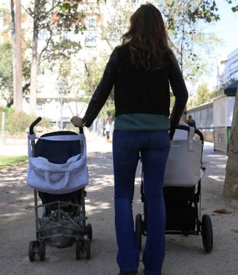 Pasear con dos bebes Coco y Manuela
